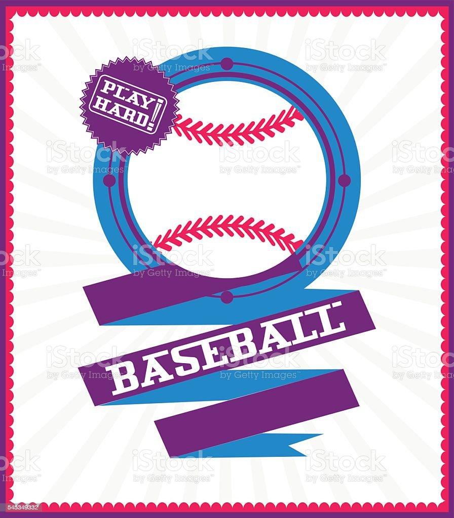 Sports games. Sport ball. Baseball poster vector art illustration