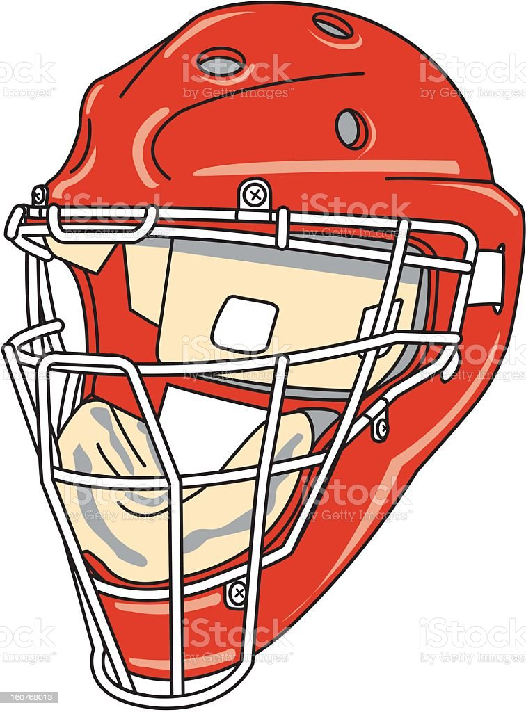 Sports helmet royalty-free stock vector art