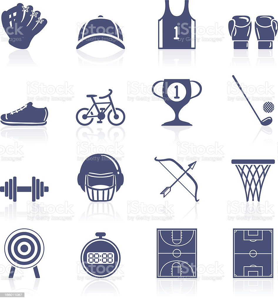 Sports icon collection vector art illustration