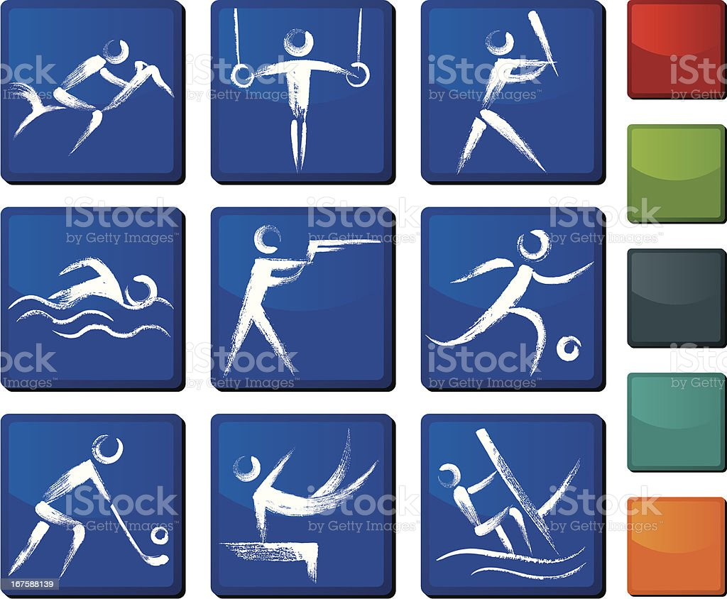 Sports Icon Set royalty-free stock vector art