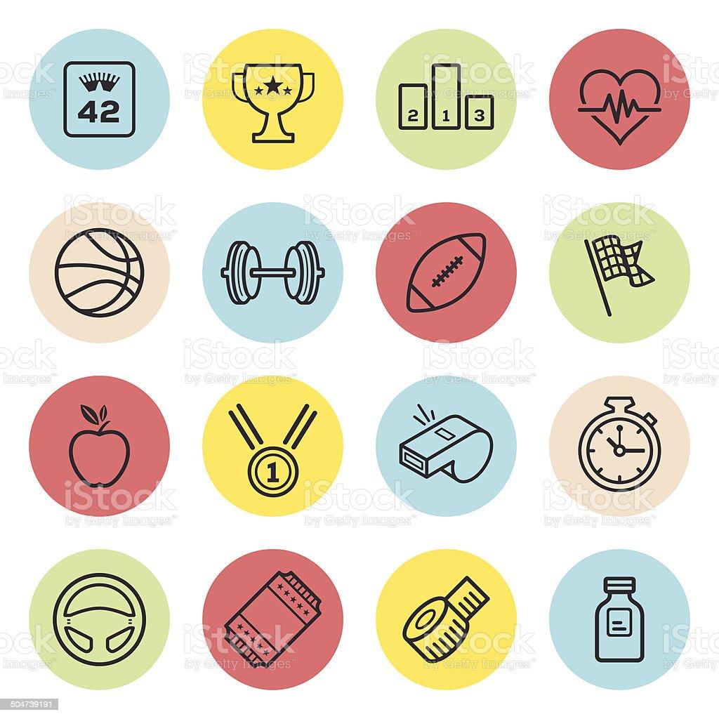 Sports Icon Set vector art illustration