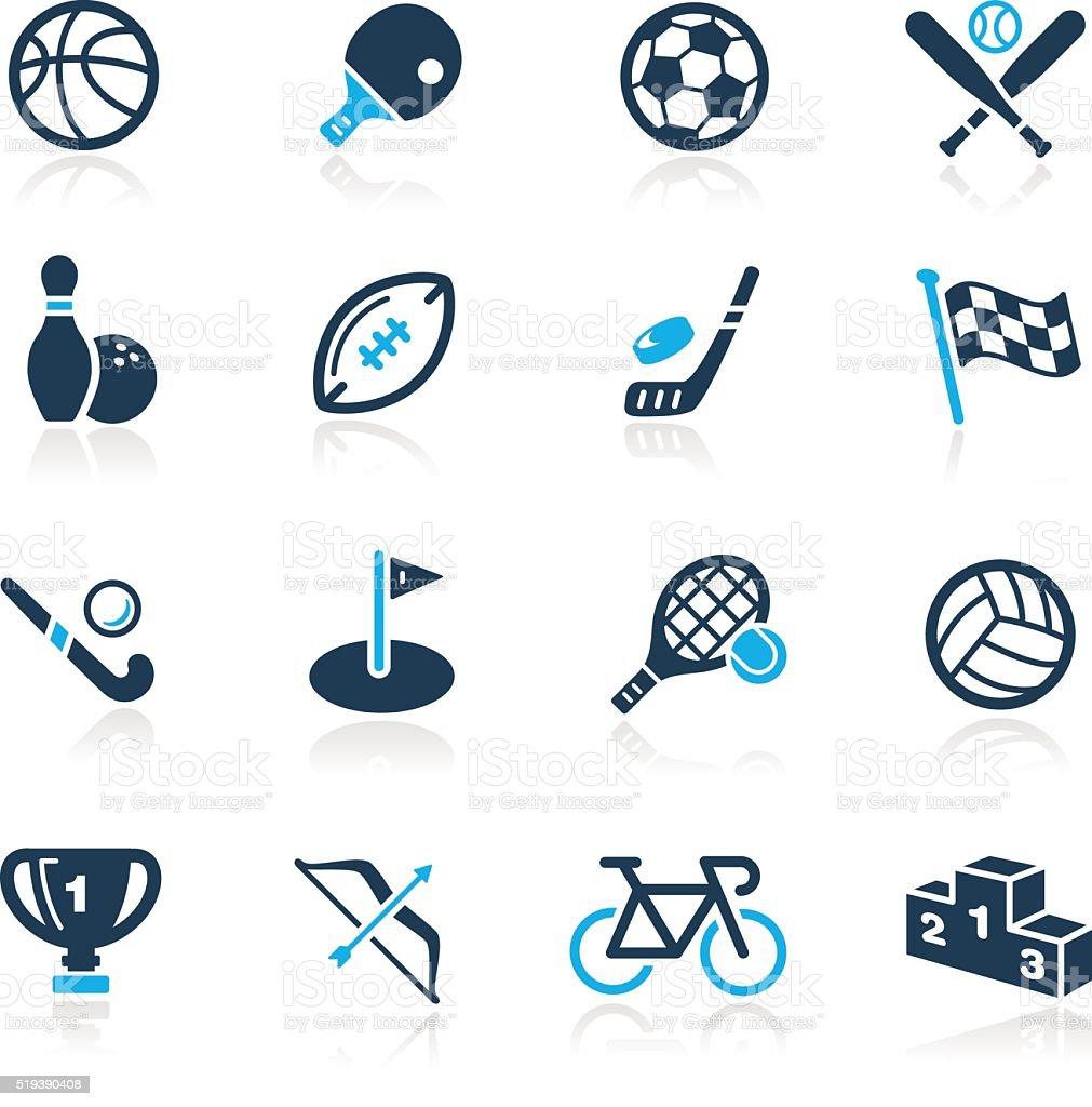 Sports Icons // Azure Series vector art illustration