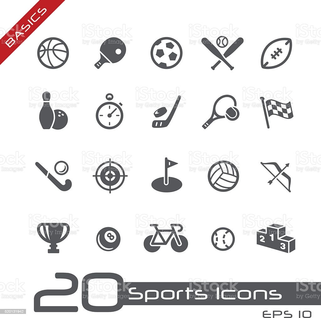 Sports Icons - Basics vector art illustration