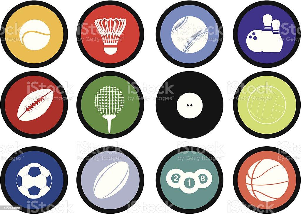 Sport-icons buttons Lizenzfreies vektor illustration