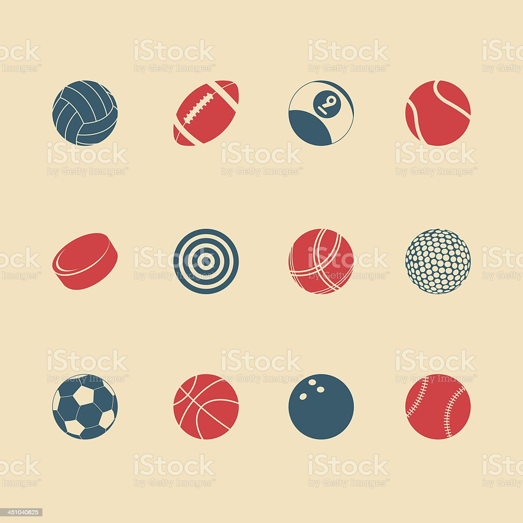 Sports Icons - Color Series | EPS10 royalty-free stock vector art