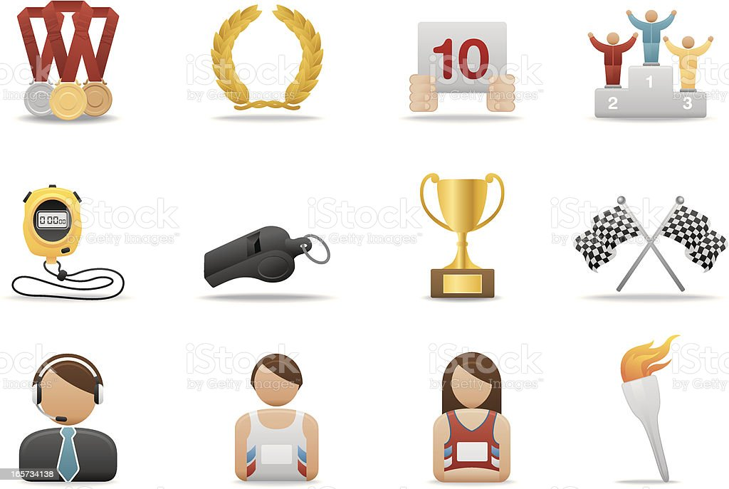 Sports icons | Premium Matte series royalty-free stock vector art