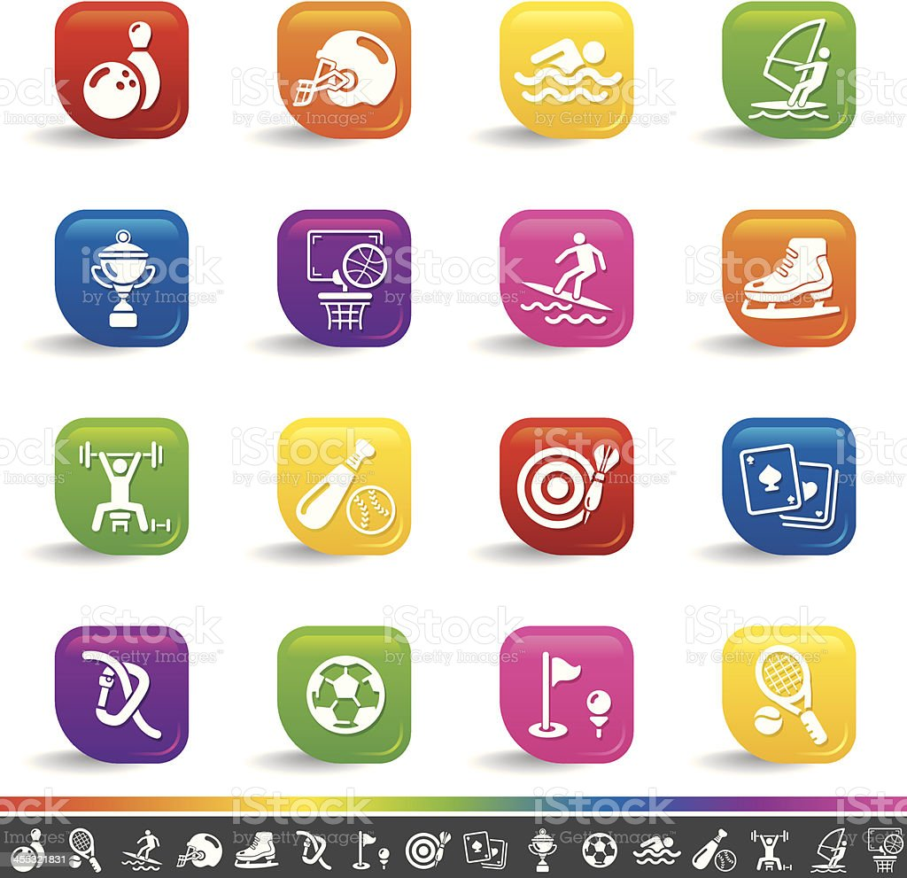 Sports icons | Rainbow Series royalty-free stock vector art