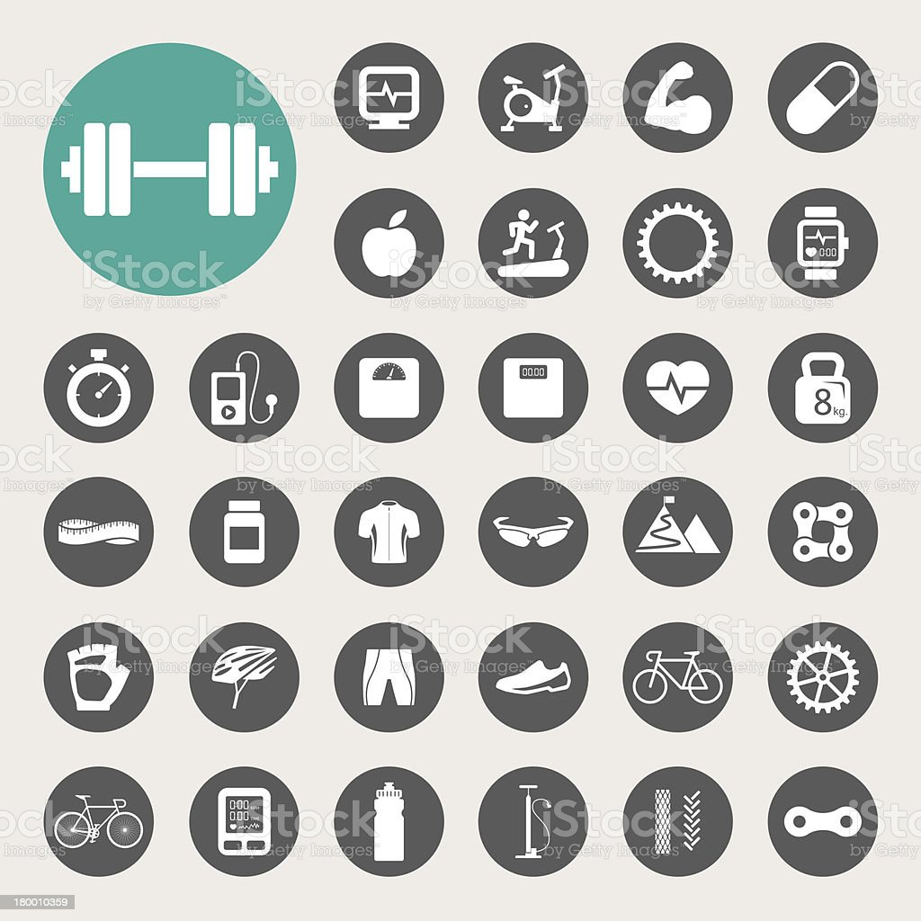 Sports Icons set. vector art illustration