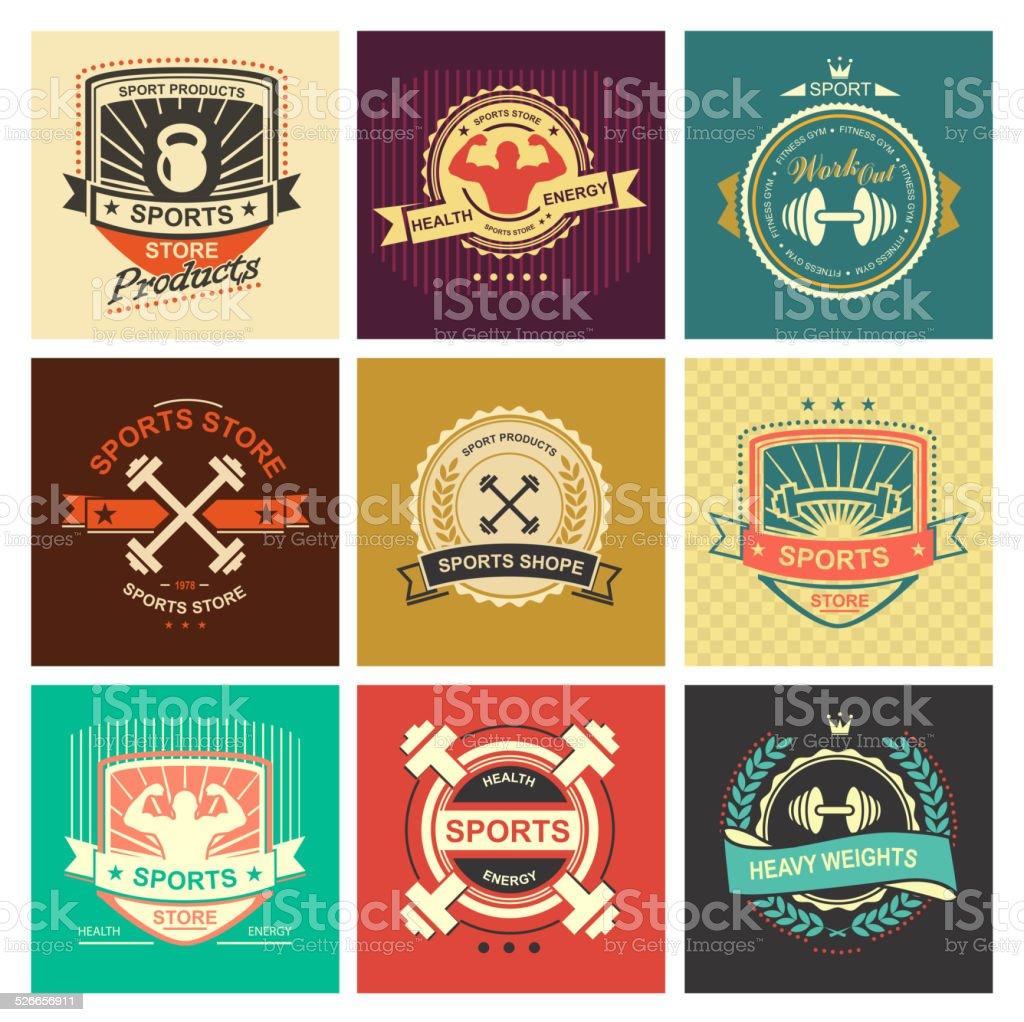 Sports icons vector art illustration