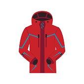 Sports jacket warm zipper model.