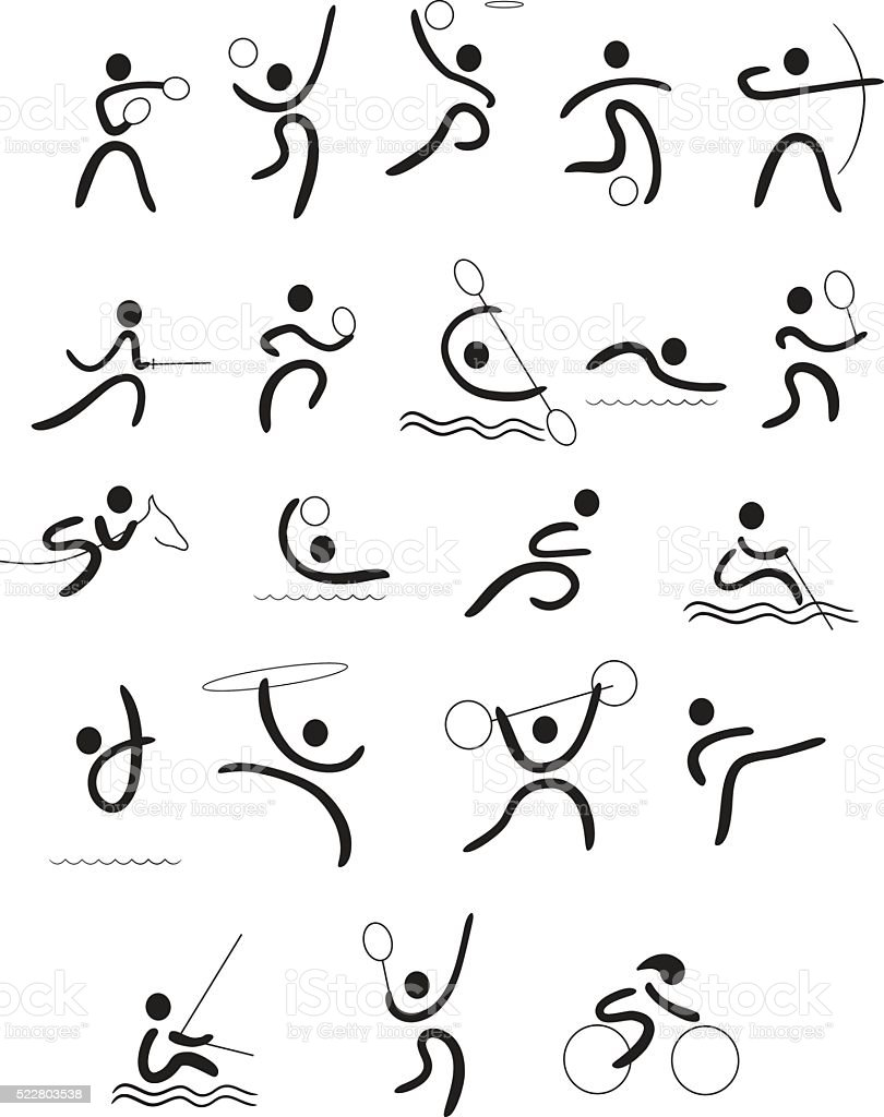 Sports linear pictogram vector art illustration