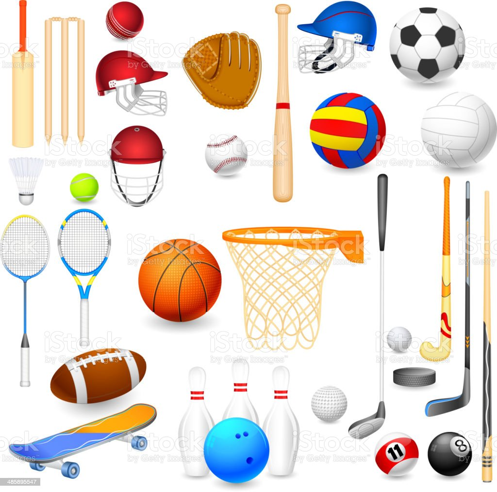 Sports Object vector art illustration