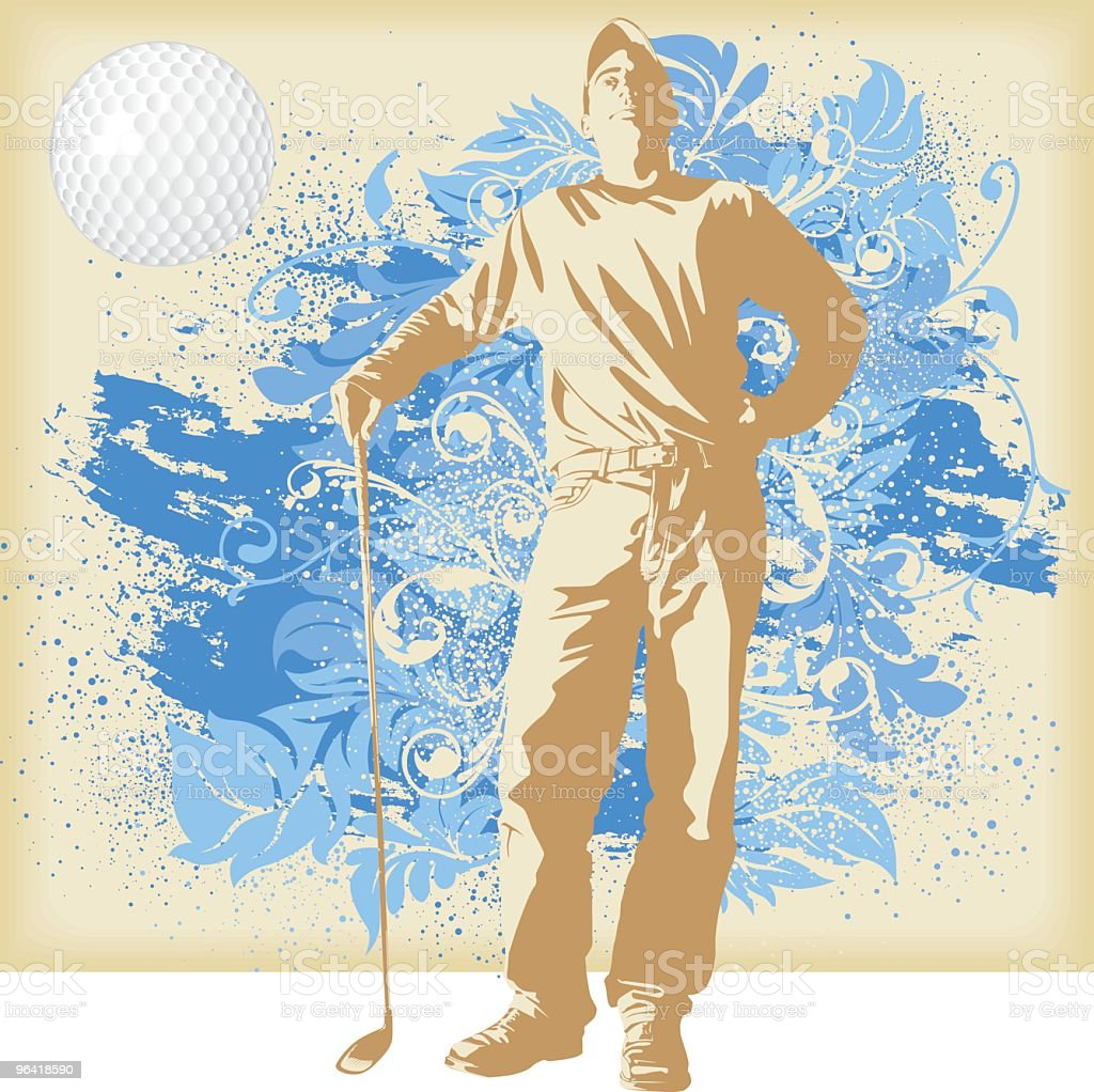 Sports People - Golf vector art illustration
