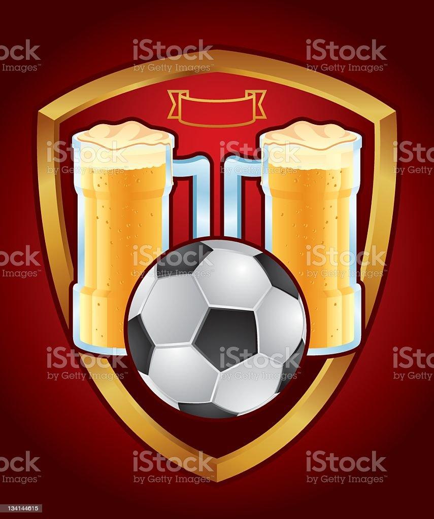 Sports pub emblem royalty-free stock vector art