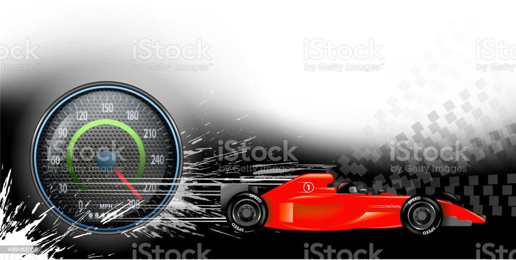 sports race background vector art illustration