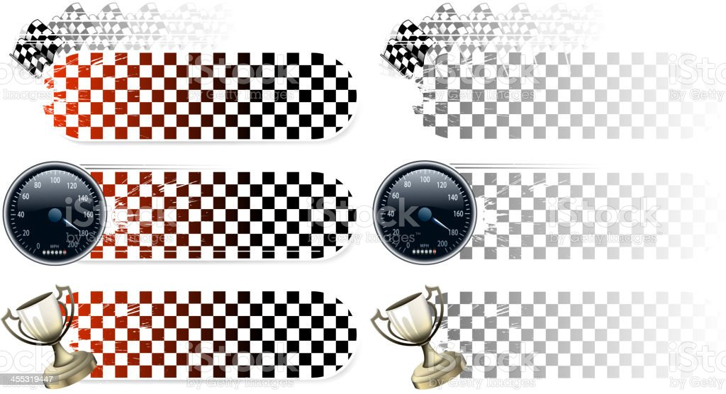 sports race banners royalty-free stock vector art