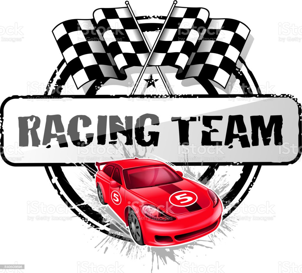 sports race symbol vector art illustration