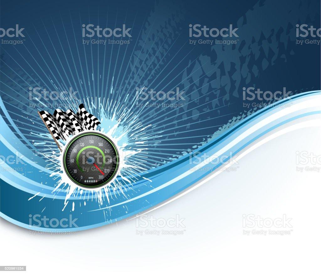 sports race wave vector art illustration