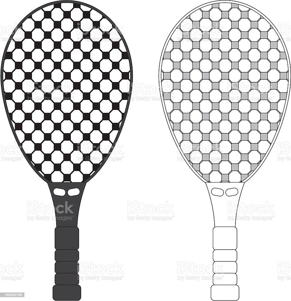 Sports Racket, Tennis, Badminton, Squash vector art illustration