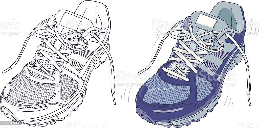 Sports Shoe vector art illustration