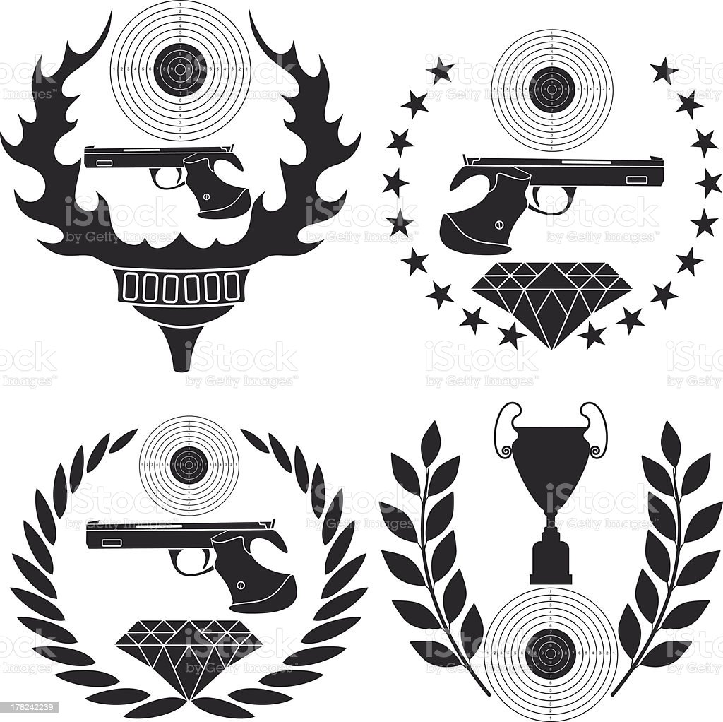 Sports shooting royalty-free stock vector art