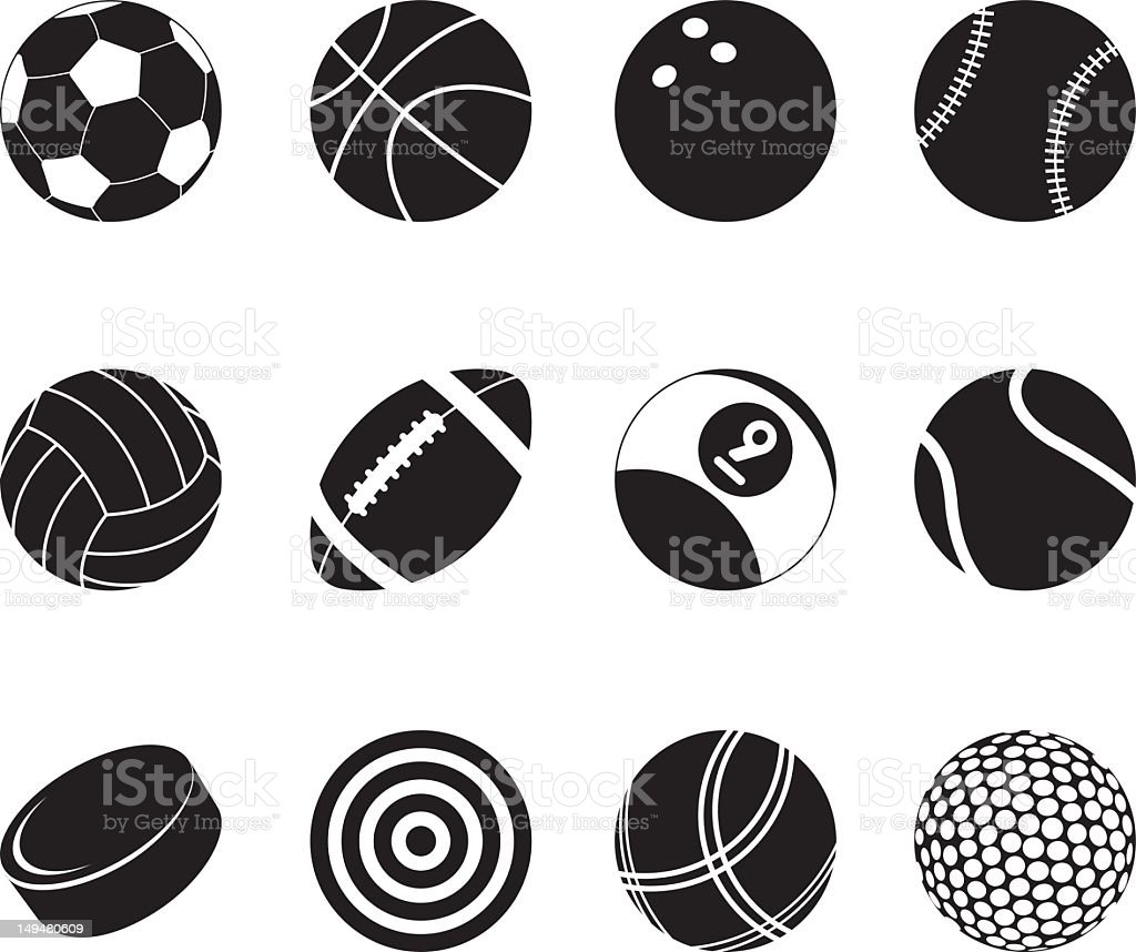 Sports Silhouette Icons vector art illustration
