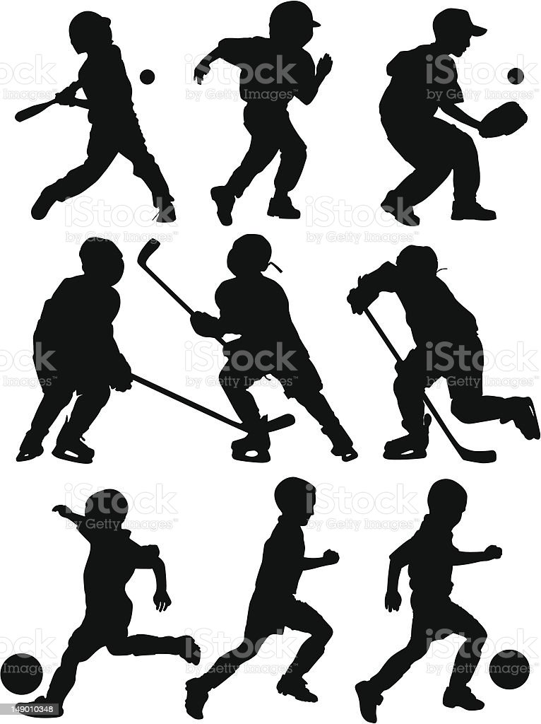 Sports Silhouettes vector art illustration