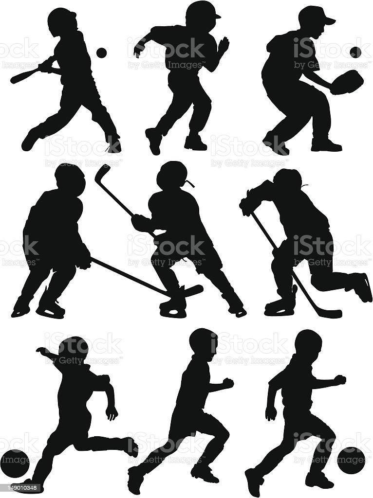 Sports Silhouettes vector art illustration