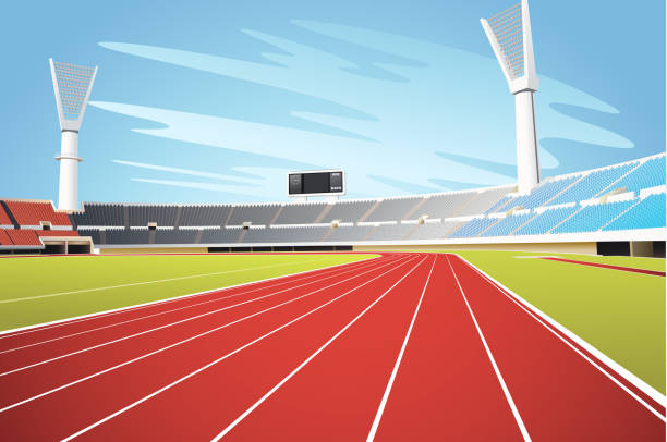 Track And Field Clip Art, Vector Images & Illustrations