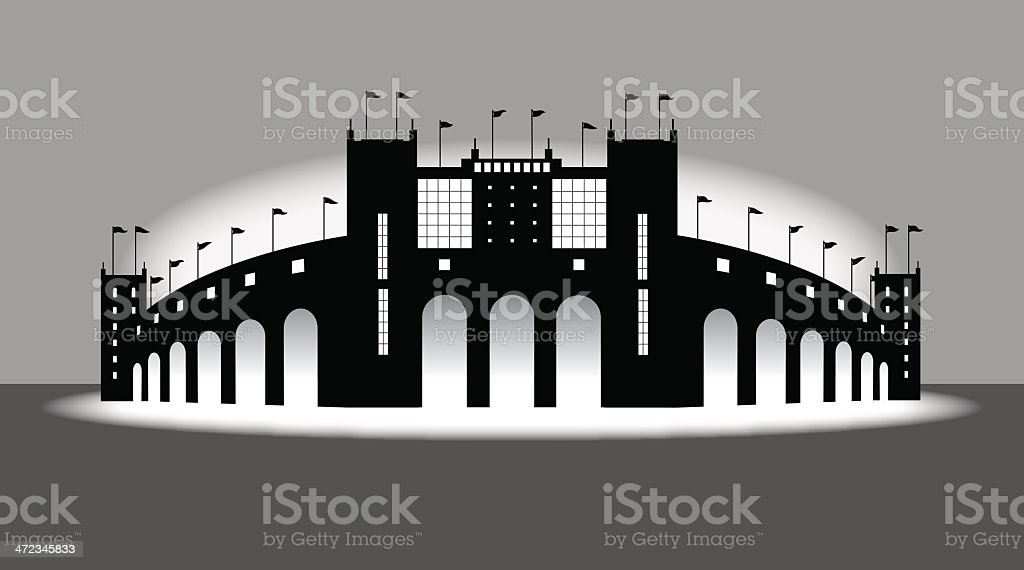 Sports Stadium - Arena Background vector art illustration