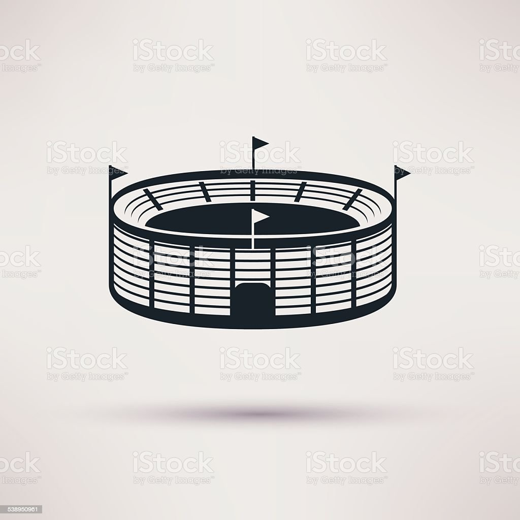 sports stadium vector icons in a flat style. vector art illustration