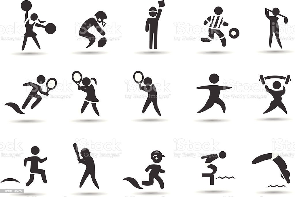 Sports Stick Figures royalty-free stock vector art