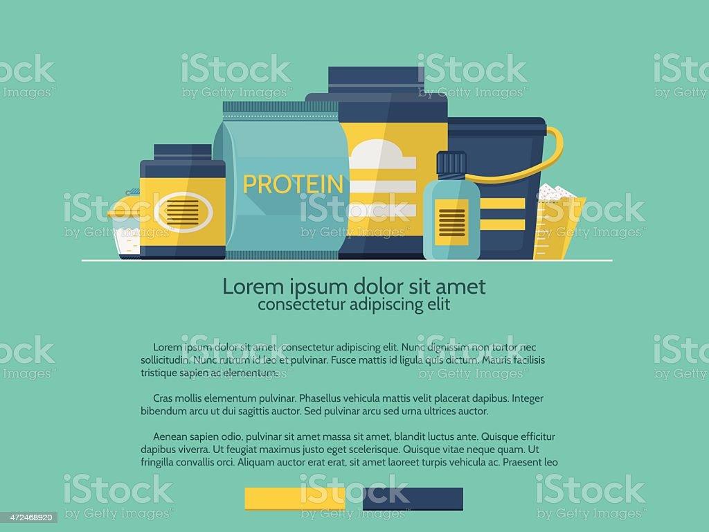 Sports supplements vector design element vector art illustration