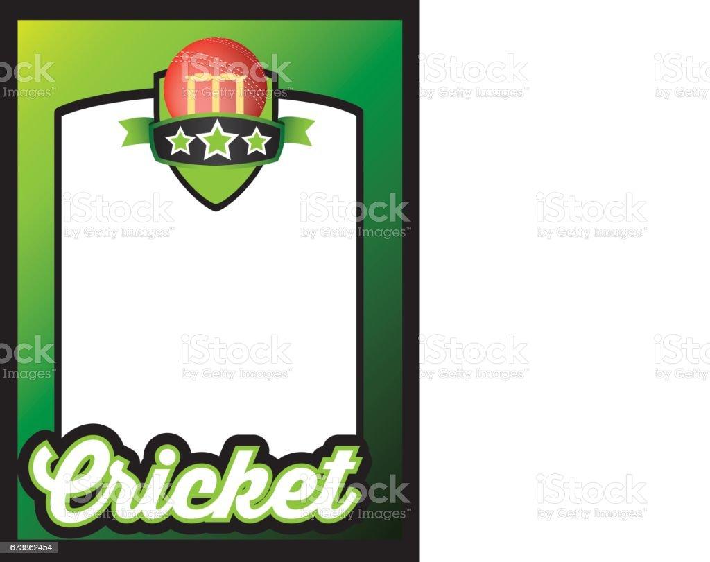 sports template poster or leaflet background for cricket vector art illustration