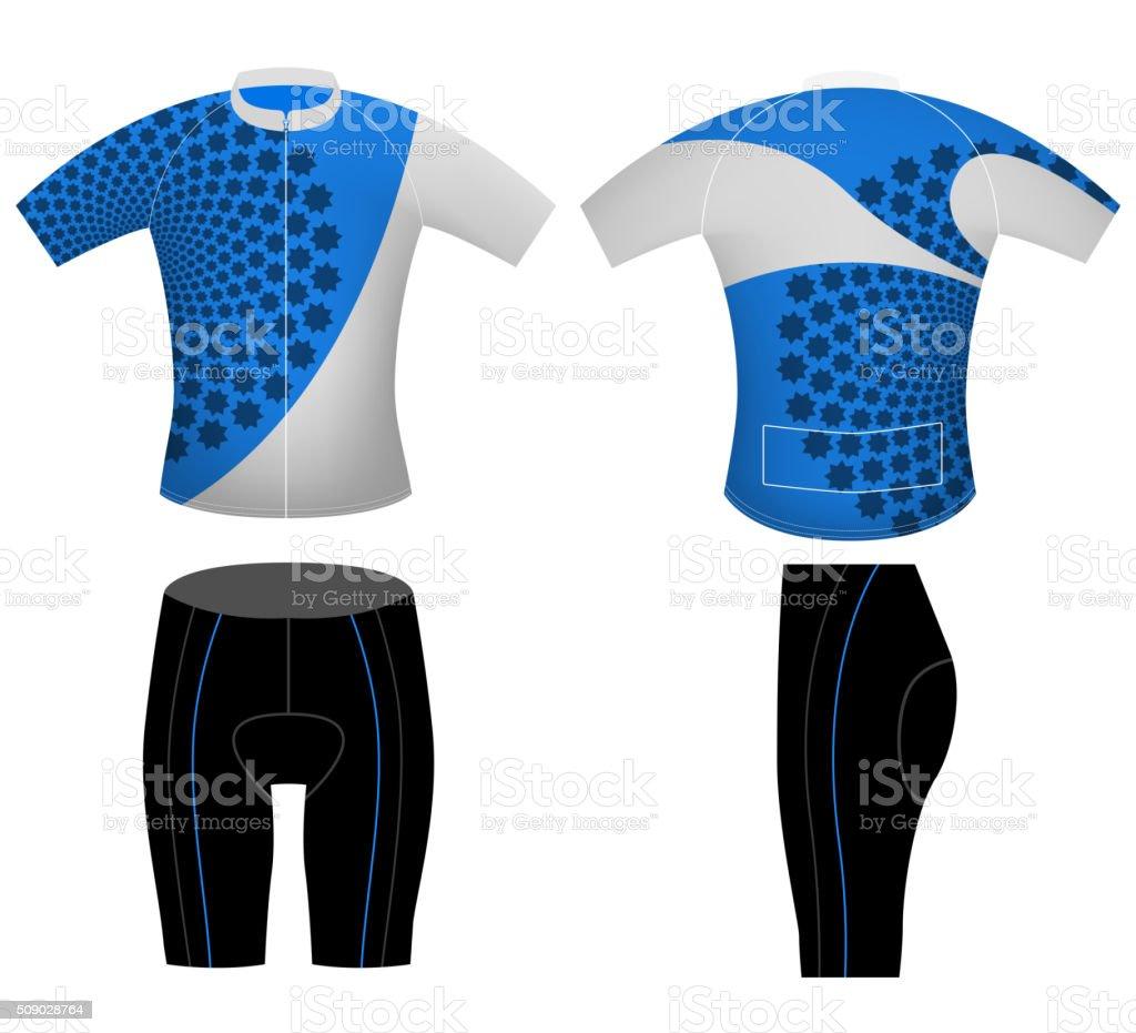 Sports uniform cycling vest vector art illustration