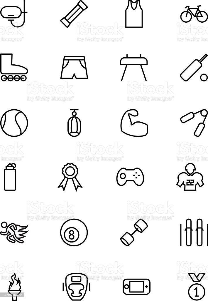 Sports Vector Line Icons 2 vector art illustration