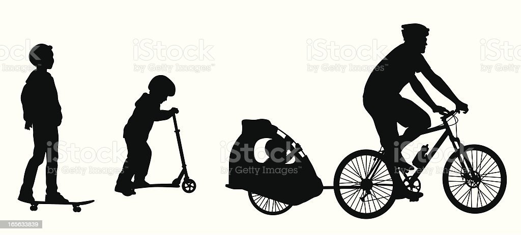 Sports Wheels Vector Silhouette royalty-free stock vector art