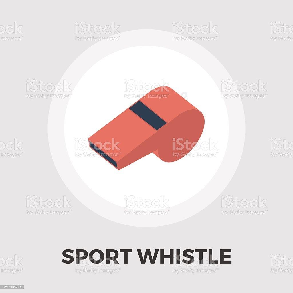 Sports whistle icon flat vector art illustration