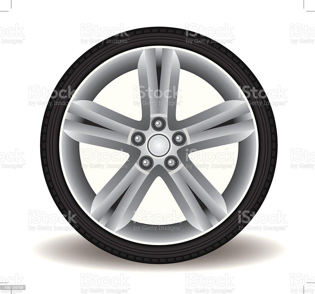 Sporty Aluminum Wheel Vector vector art illustration