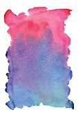 Spot bright watercolor paint, blue and pink wallpaper, vector background