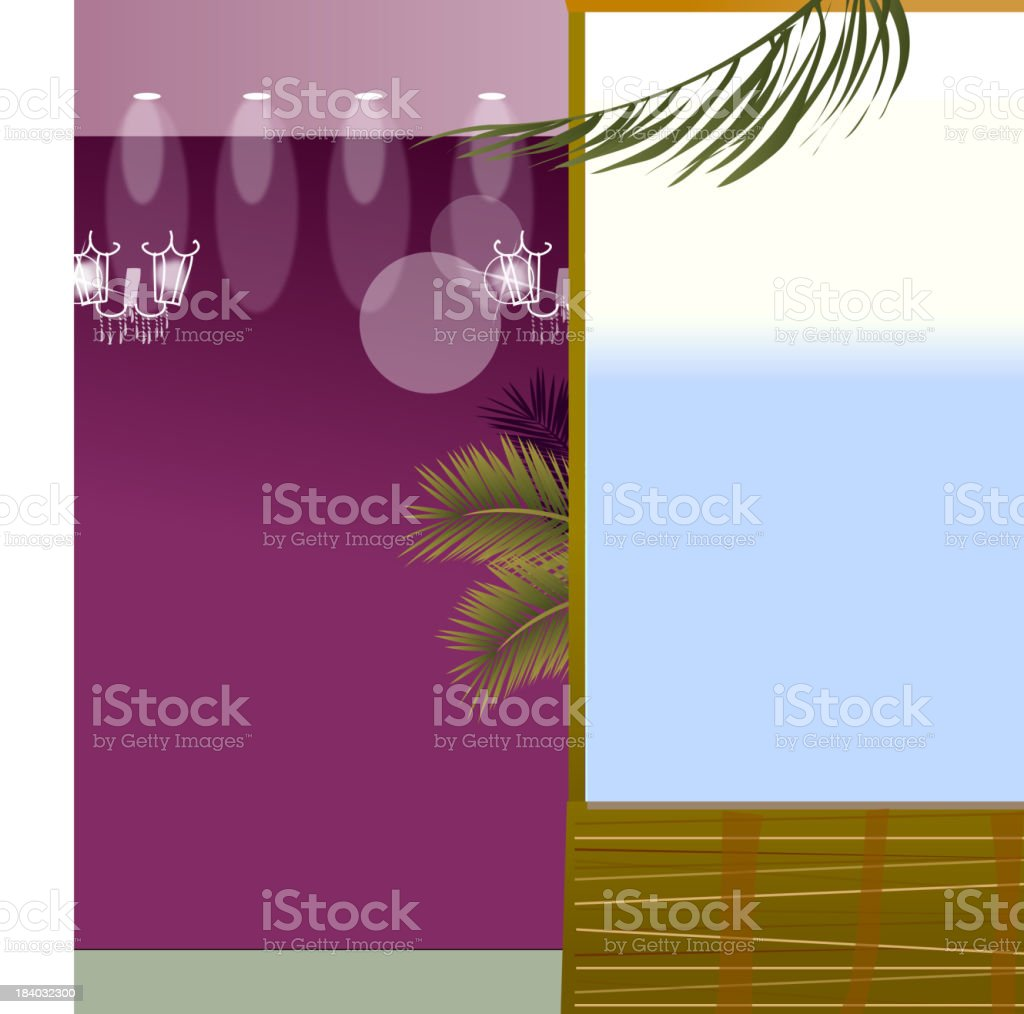 Spot light and window royalty-free stock vector art