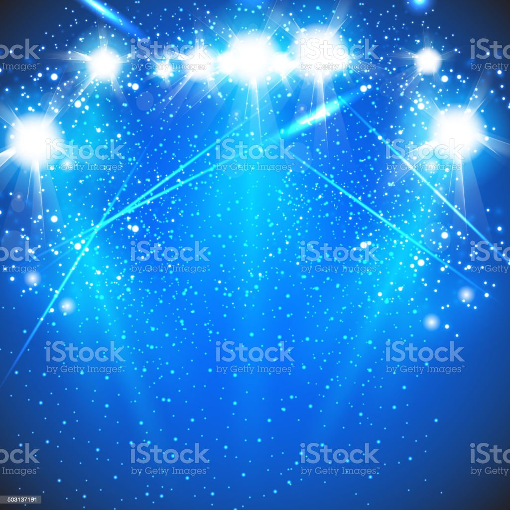 Spot light the oval stage vector art illustration