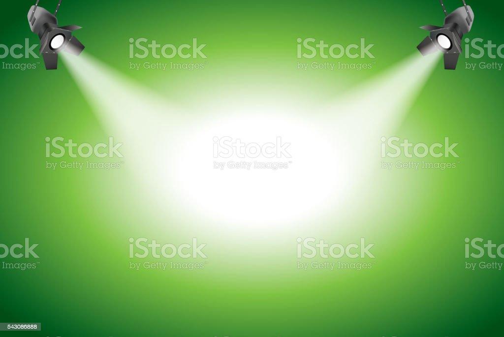 Spot light vector art illustration