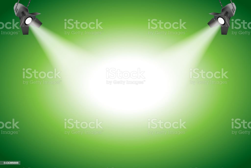 Spot light vector art illustration