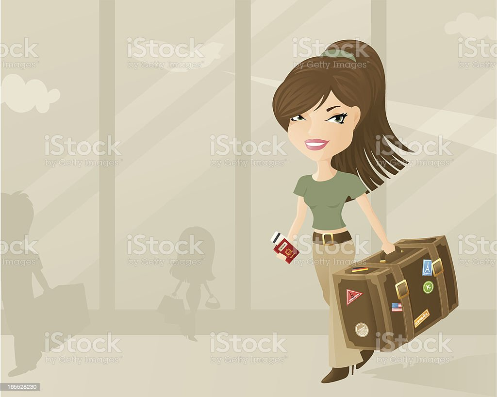 Spot of Travelling - incl jpeg vector art illustration