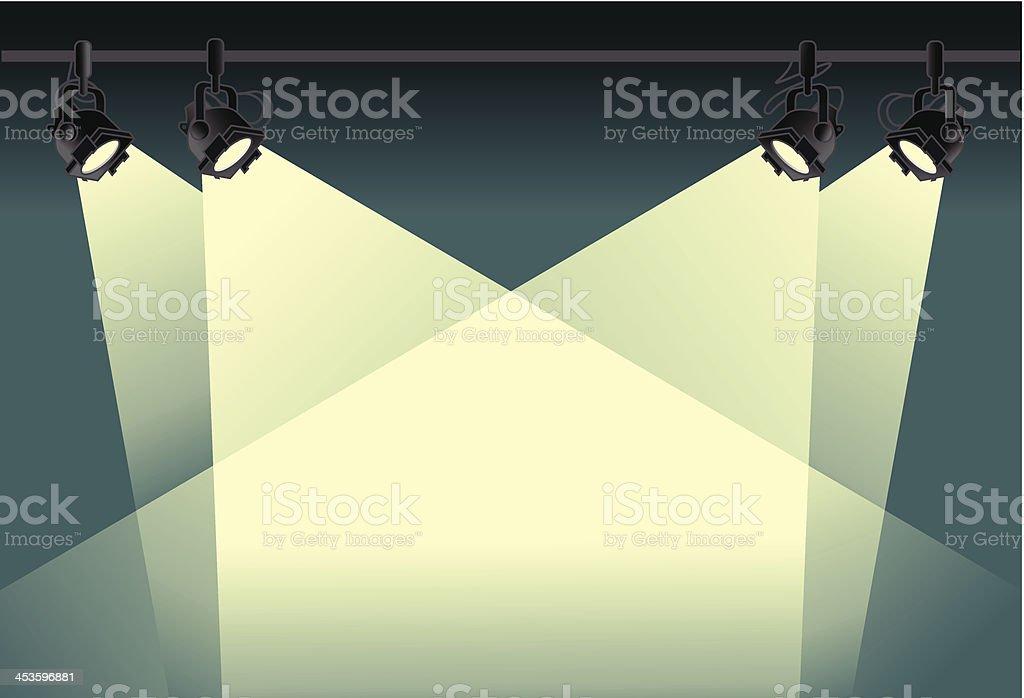spotlight background vector art illustration