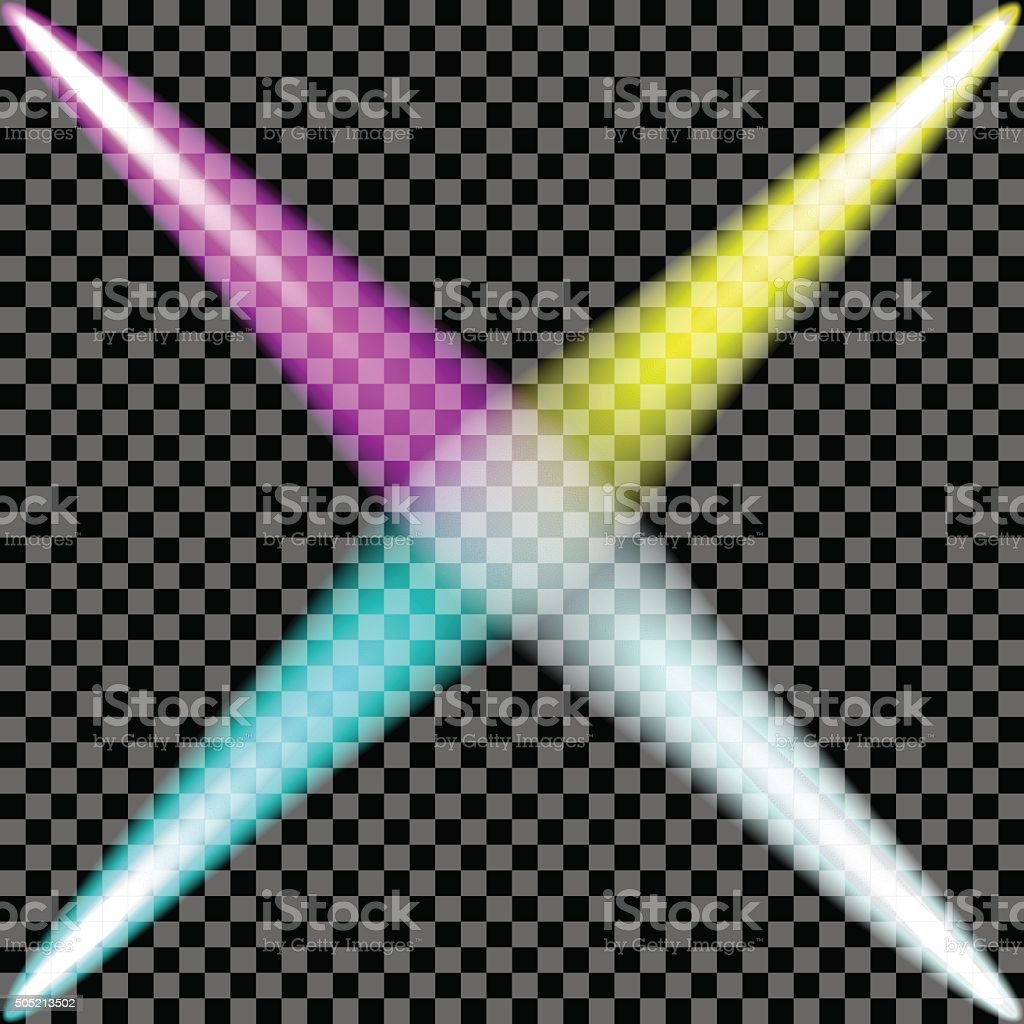 spotlight colorful set.Vector illustration. vector art illustration