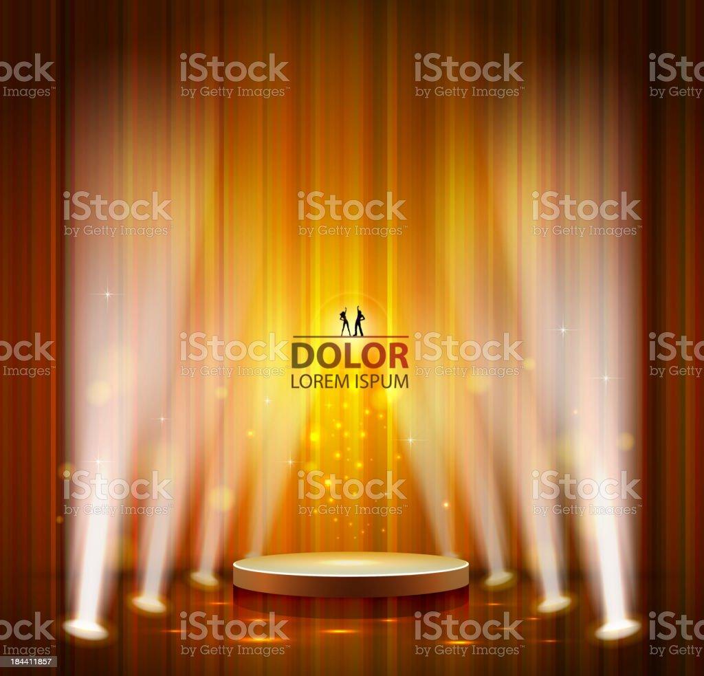 spotlight effect scene background vector art illustration