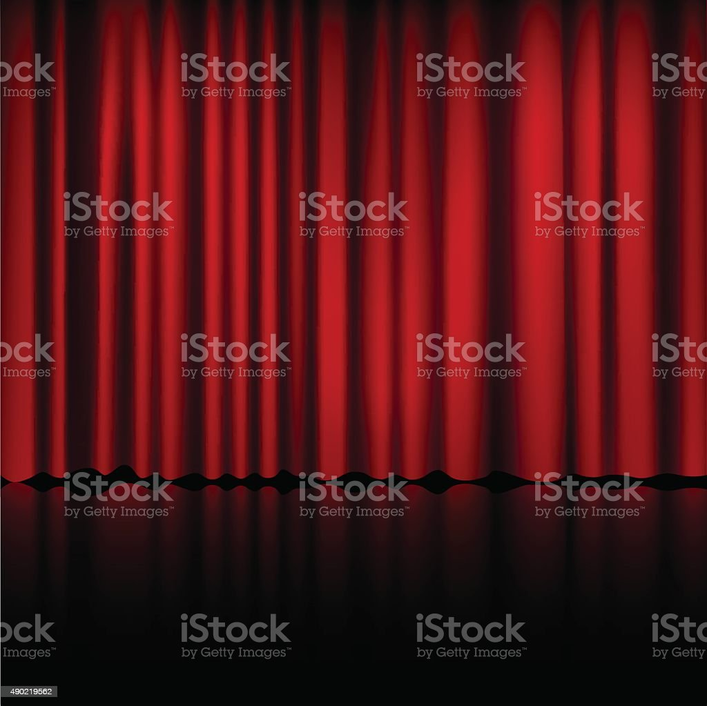 Stage curtains spotlight - Spotlight On Stage Curtain Vector Royalty Free Stock Vector Art