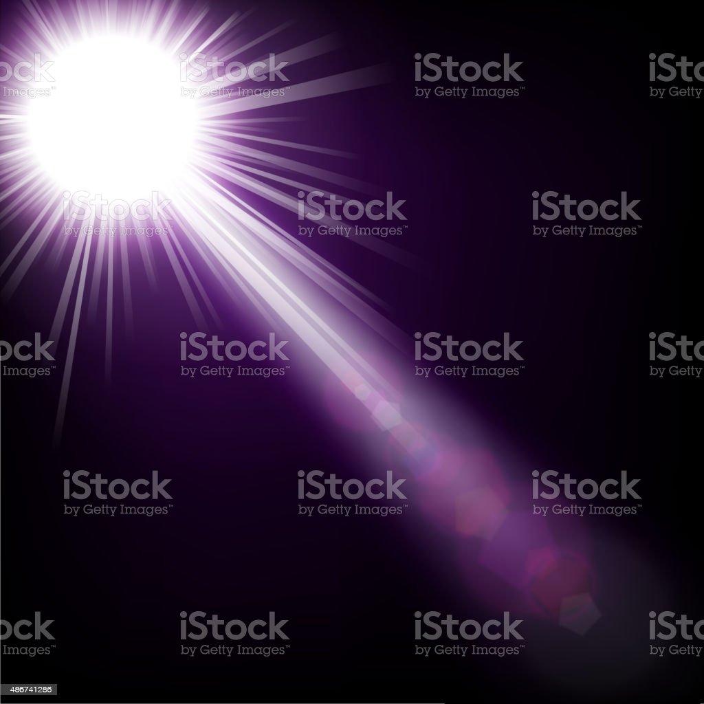 Spotlight shining with bokeh vector art illustration